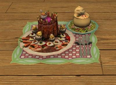 「FF14」エッグ・チョコレートケーキ