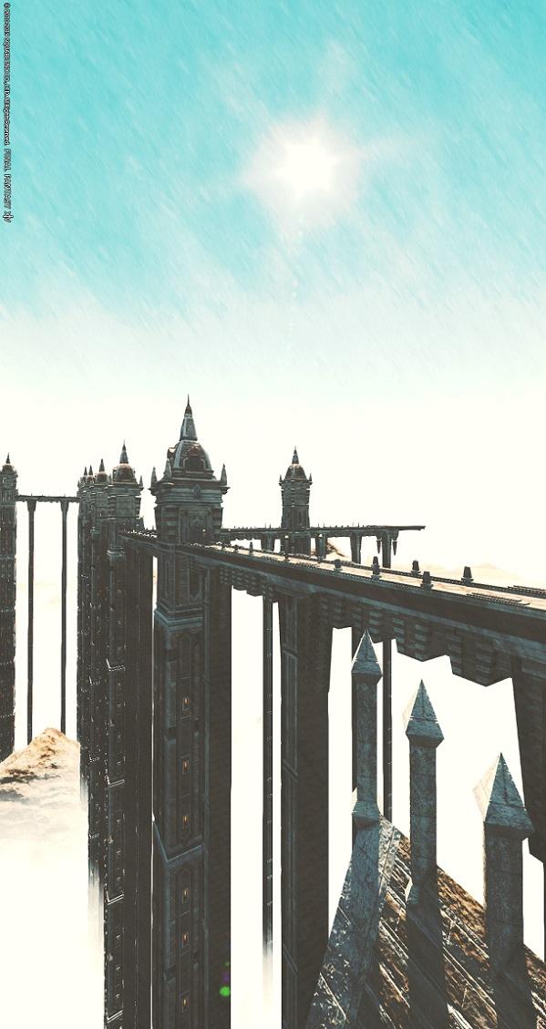 「FF14」グループポーズ:風景画。横を縦。ズーム100