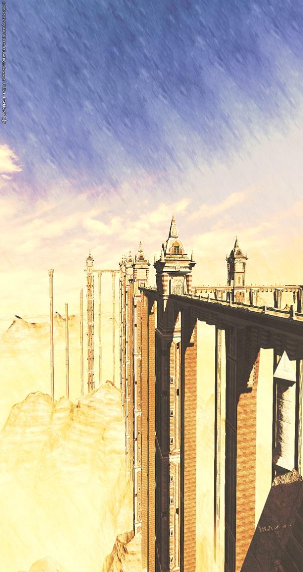 「FF14」グループポーズ:風景画。横を縦。ズーム0