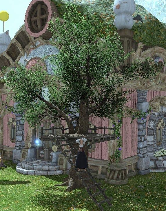 「FF14」庭具:シンプルツリーハウス