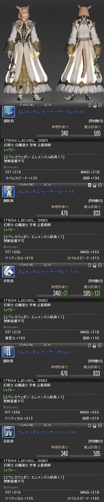 「FF14」エレメンタル・ヒーラー+1シリーズ