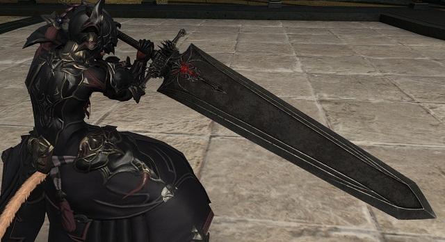 「FF14」暗黒騎士AFミコッテ