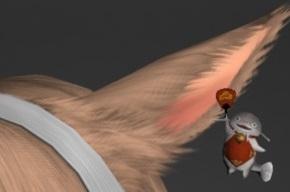 「FF14」鯰尾耳飾