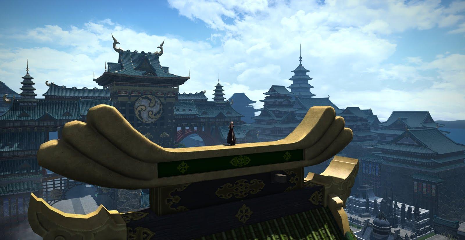 「FF14」クガネ登山頂上絶景