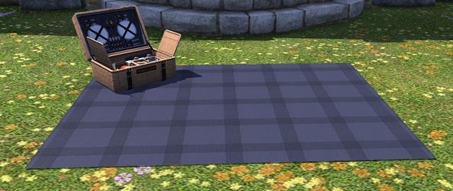 「FF14」ピクニックセット:染色シャドウブルー