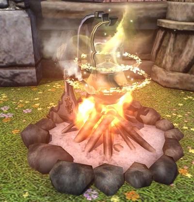 「FF14」ヤカン庭具:アルティメット ケルト:ネクサス&焚火