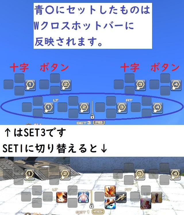 「FF14」方向キーと4ボタンを有効にする設定例