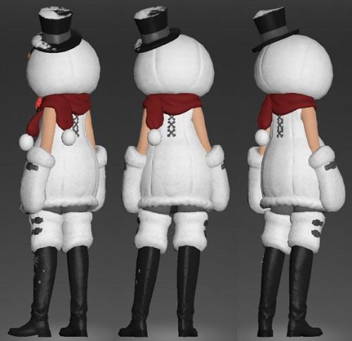 「FF14」スノーマンスーツ背面側